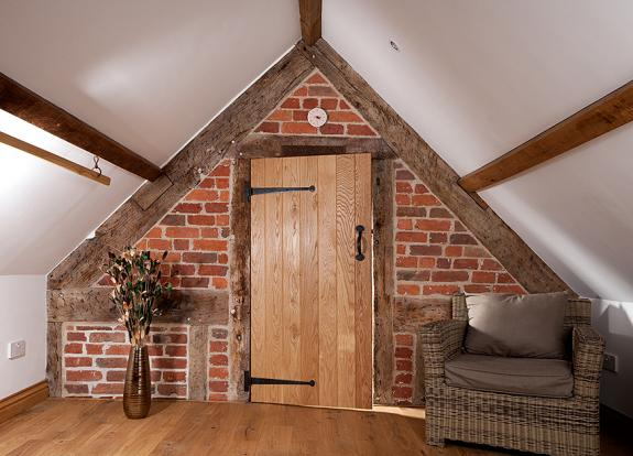 Ledged and Braced Solid Oak Door