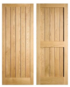 Framed and Boarded Oak Door Venables Brothers
