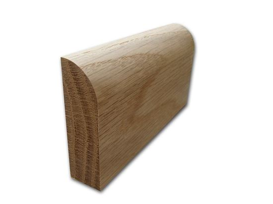 Bulnose Skirting in Oak. Available from Venables Brothers Ltd.