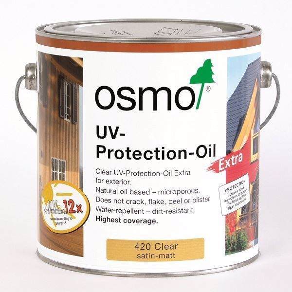 Osmo UV Protection Oil. Available from Venables Brothers Ltd.